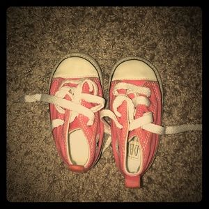 Pink Baby Converse Shoes